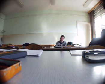 student in class alone