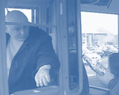 Drunken man on a bus