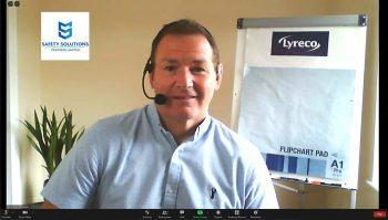 Vince delivering online training